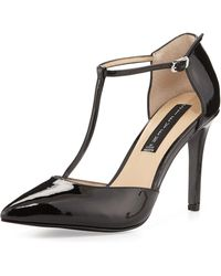 Steven by Steve Madden Amanda Patent Leather T-Strap Pump - Lyst