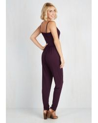 Gilli - Slicker Than Your Average Jumpsuit In Plum - Lyst