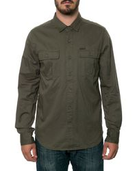 Volcom The Basecamp Long Sleeve Button Down Shirt - Lyst
