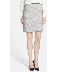Vince Camuto Tweed Pencil Skirt - Lyst