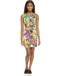 Milly Tropical Print Angular Dress - Multi - Lyst