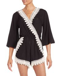 West Kei - Crocheted Romper - Lyst