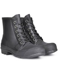 Hunter Original Rubber Lace Up Boots - Lyst