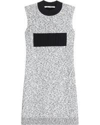 Paco Rabanne Stretch Knit Dress black - Lyst