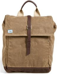 TOMS | Waxed Canvas Backpack | Lyst