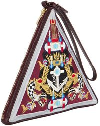Mary Katrantzou Pochette Triangle Anchor Badge - Lyst