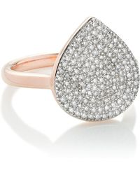 Monica Vinader - Rose Gold Vermeil Diamond Alma Ring - Lyst