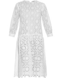 Queene And Belle Lucca Broderie-Anglaise Cotton Dress - Lyst