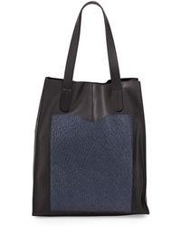L.A.M.B. Gillian Leather Tote Bag black - Lyst