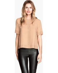 H&M Blouse with Studs - Lyst
