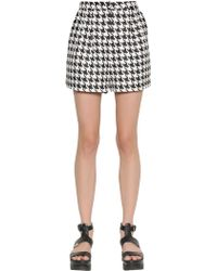Emma Cook - Techno Houndstooth Jacquard Shorts - Lyst