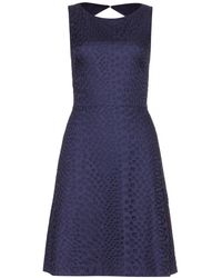 Issa Blue Eyeletcotton Dress - Lyst