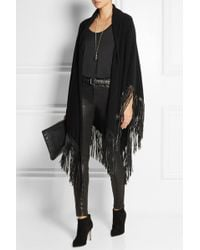 Finds - Leatherfringed Cashmere Shawl - Lyst