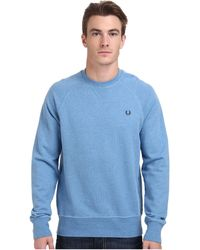 Fred Perry Loopback Crew Sweater - Lyst