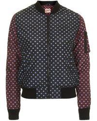 Topshop Polka Dot Bomber Jacket by Schott X - Lyst