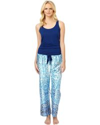 Oscar de la Renta Sleeveless Top Print Bottoms Pajama Set - Lyst