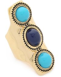 Sam Edelman - 3 Stone Vertical Ring - Blue Multi - Lyst