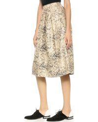 O'2nd - Kremlin Jacquard Full Skirt  Gold - Lyst