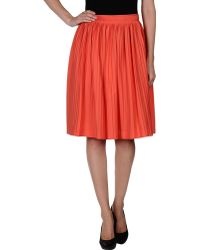 Jil Sander Knee Length Skirt - Lyst
