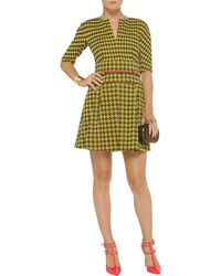 M Missoni Belted Houndstoothprint Knitted Mini Dress - Lyst