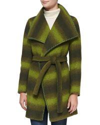Trilogy Wool-Blend Ombre Wrap Coat - Lyst