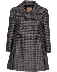 Erika Cavallini Semi Couture Coat gray - Lyst