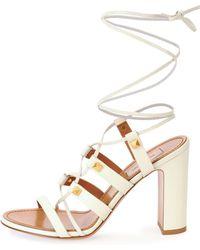 Valentino Rockstud High-Heel Gladiator Sandal - Lyst