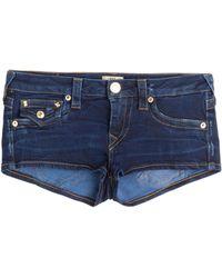 True Religion - Joey Cut-off Denim Shorts - Lyst