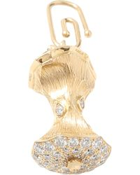 Aurelie Bidermann | Diamond Baby Apple Core Pendant | Lyst