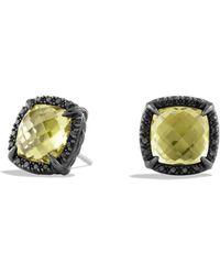 David Yurman Chatelaine Earrings With Diamonds yellow - Lyst
