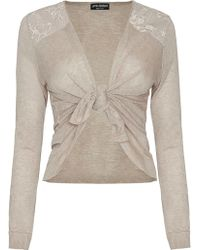 James Lakeland Lace Shoulder Cardigan - Lyst