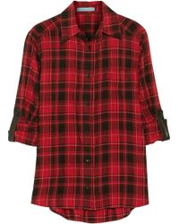 Alice + Olivia Piper Plaid Poplin Shirt - Lyst