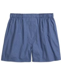 Brooks Brothers Traditional Fit Stripe Check Boxers - Lyst