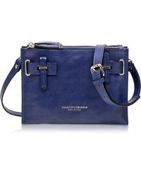 Francesco Biasia - Hampstead Abisso Leather Crossbody Bag - Lyst