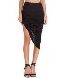 Bella Luxx Twisted Side Drape Skirt - Lyst