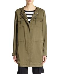 Eileen Fisher Hooded Anorak - Lyst