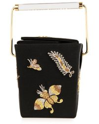 Charlotte Olympia Take Me Away Embroideredsatin Clutch - Lyst