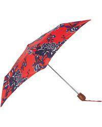 Joules - Red Peony Umbrella - Lyst