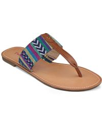 Pink And Pepper - Pink & Pepper Noah Flat Thong Sandals - Lyst