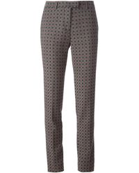 Etro Patterned Slim Fit Trousers - Lyst