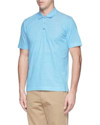Canali Cotton Polo Shirt - Lyst