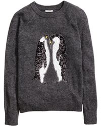 H&M - Sequined Jumper - Lyst