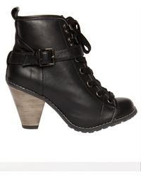 Charlotte Ronson Courtney Combat Boot Black - Lyst