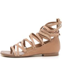 Belle By Sigerson Morrison Appa Gladiator Sandals - Natural - Lyst