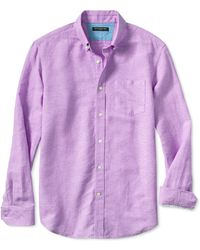 Banana Republic Slim Fit Linen Cotton Button Down Shirt Bright Cyclamen - Lyst