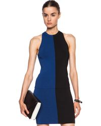 T By Alexander Wang Two Tone Viscose-blend Fitted Tank - Lyst