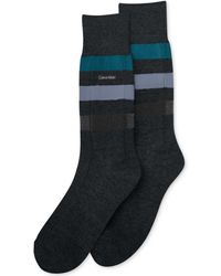 Calvin Klein Mens Reverse Channel Dress Crew Socks - Lyst