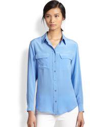 Equipment Slim Signature Silk Shirt - Lyst