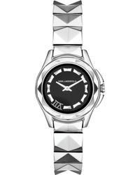 Karl Lagerfeld Unisex Karl 7 Stainless Steel Studded Bracelet Watch 30mm - Lyst