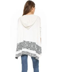 Twelfth Street Cynthia Vincent - Hooded Blanket Sweater - Ivory - Lyst